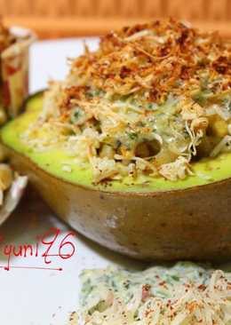 Baked Spicy Avocado and Fusilli