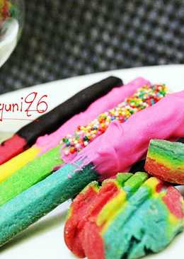Rainbow Biscuit Stick