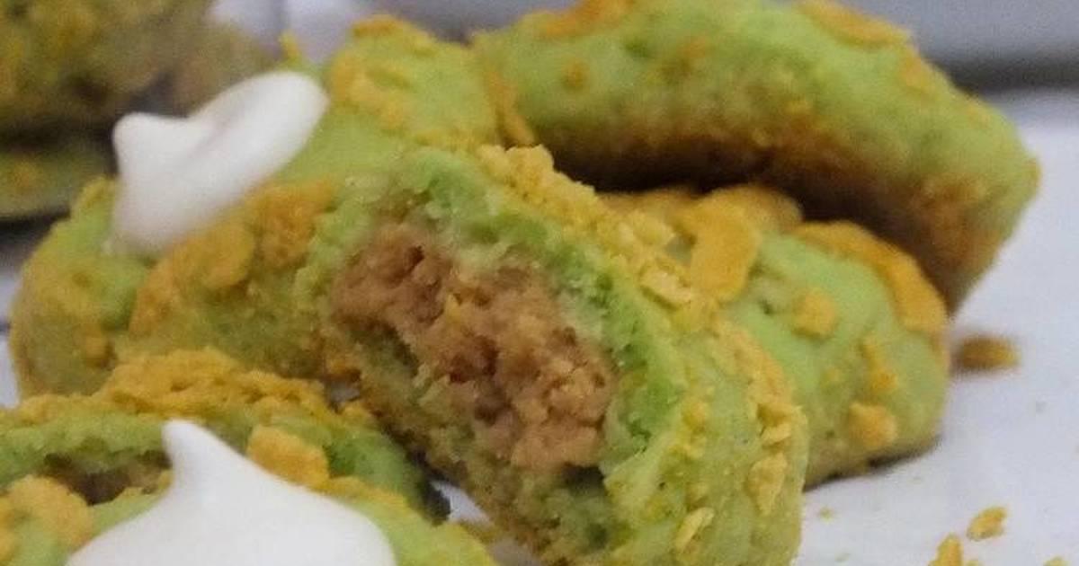 Resep Cornflake Pandan Thumbprint Cookies