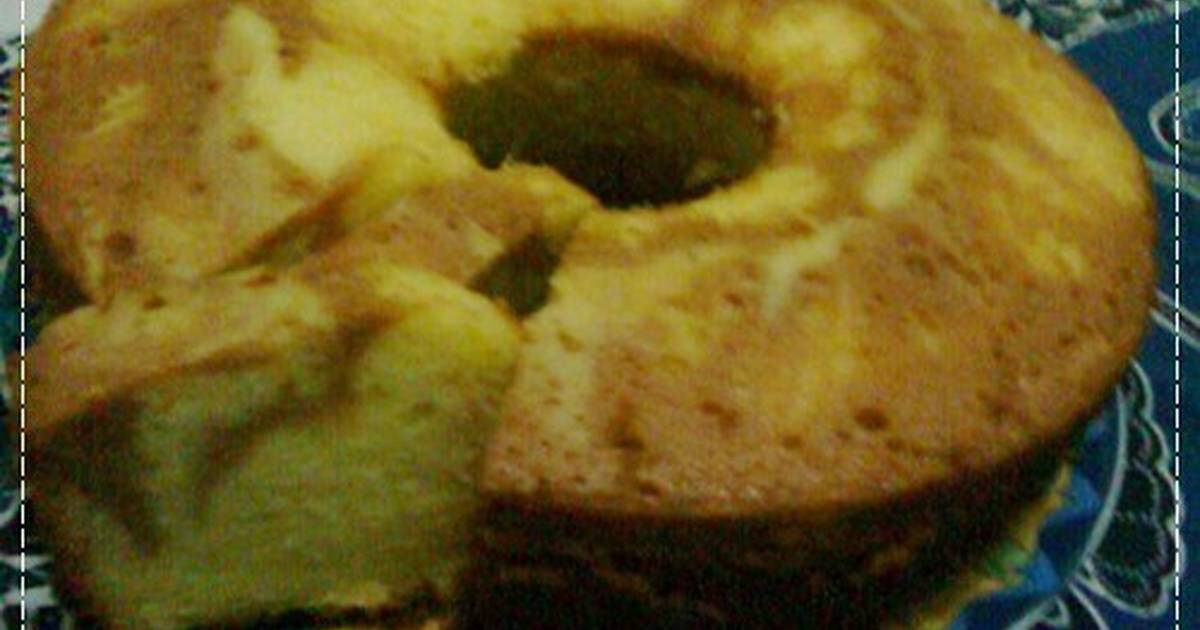 Resep MARBLE BUTTER CAKE (NO ADDITIF)