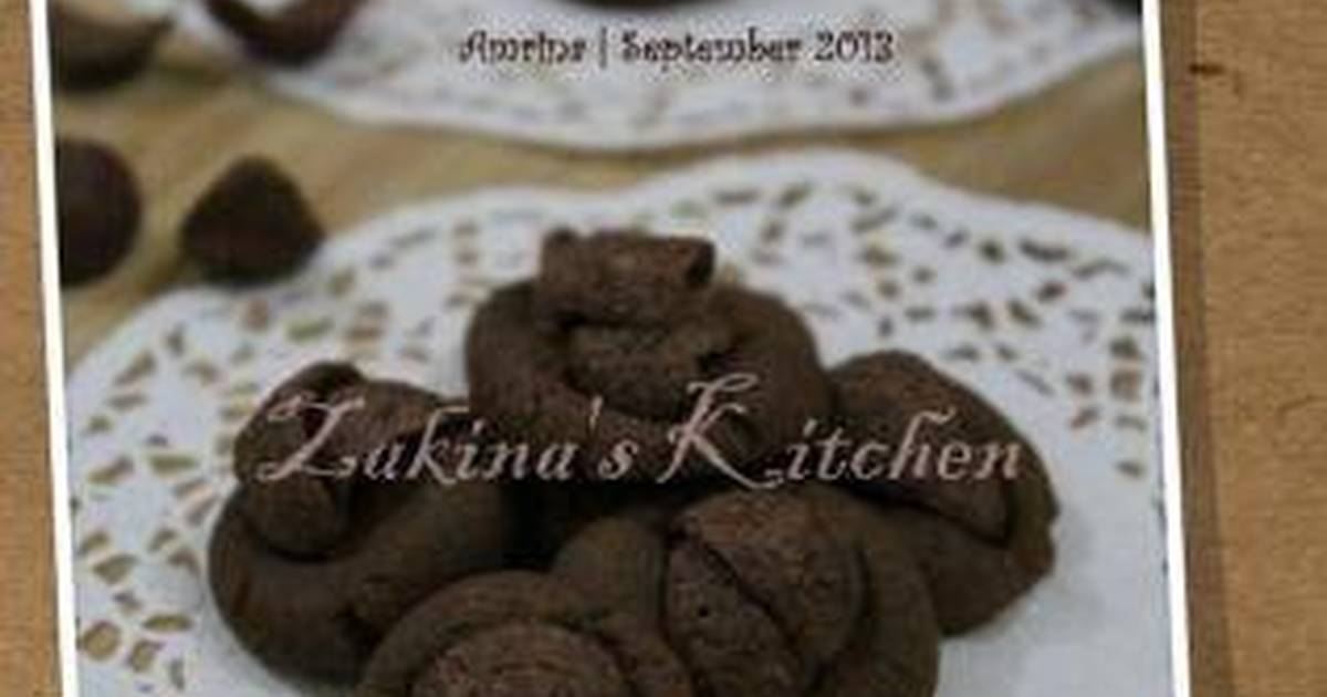 Resep Coco Crunch Chocolate Butter Cookies