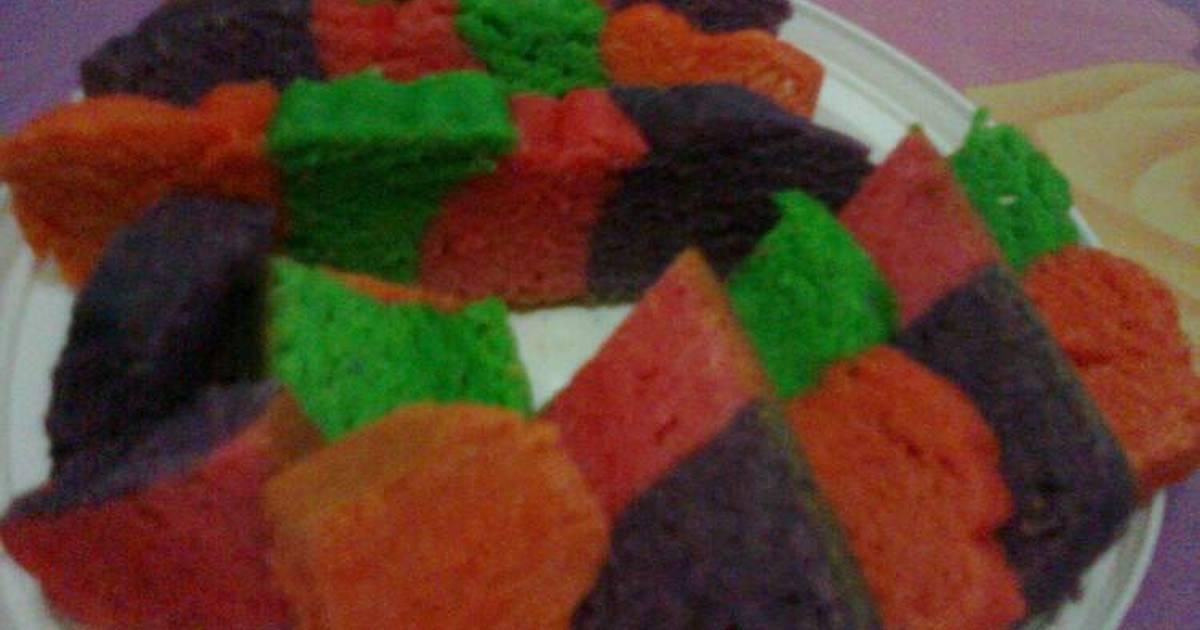 Resep Bolu 4 Warna
