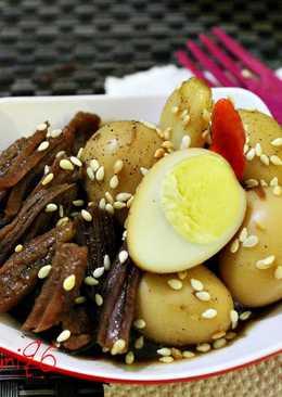 Jangjorim ( Salty Beef & Quail Eggs )