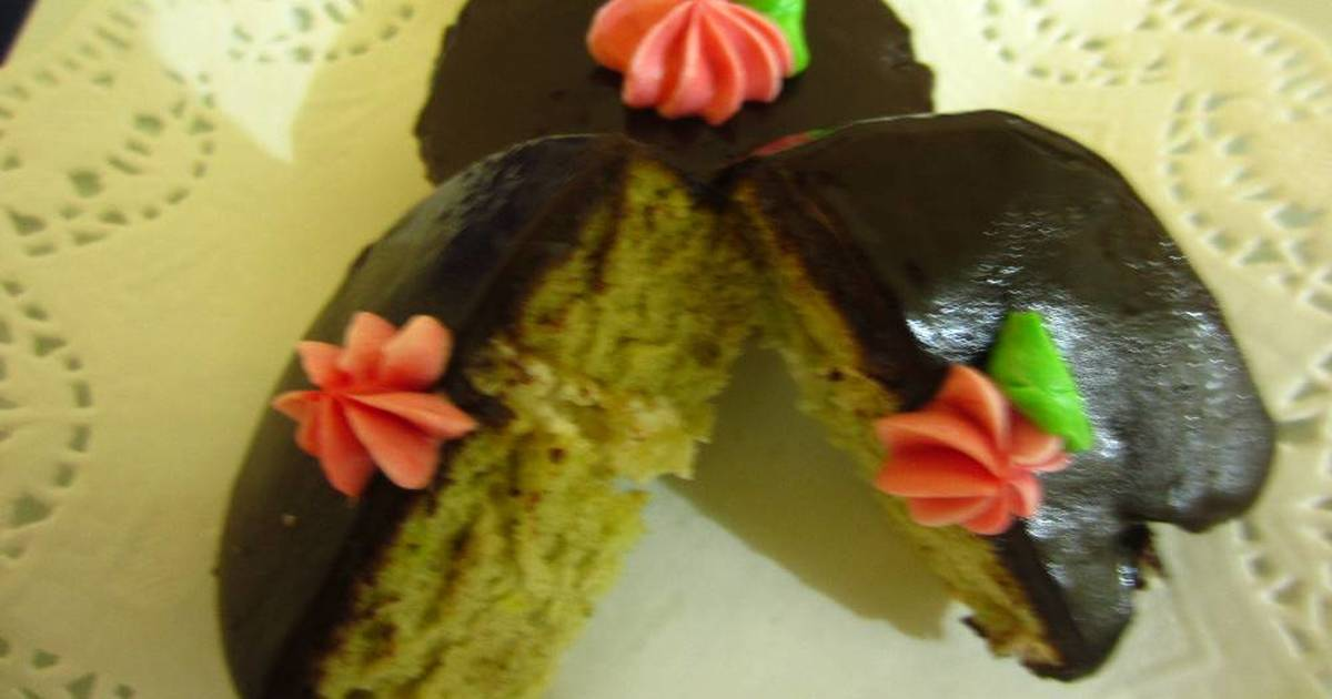 Resep Green Tea Roll Cake With Cheese and Chocolate