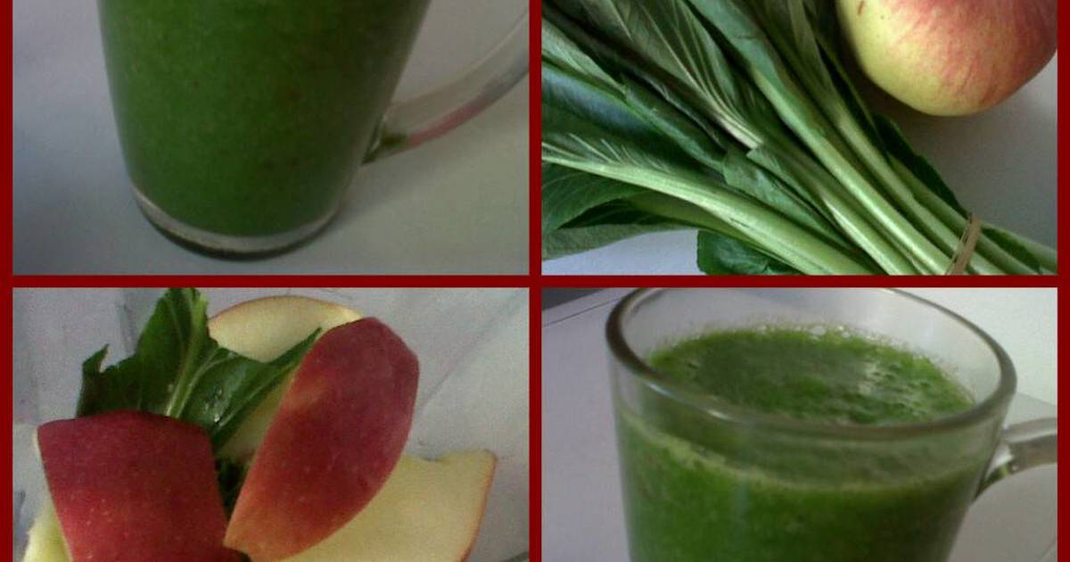 Resep Juice Sapel (Sawi & Apel)