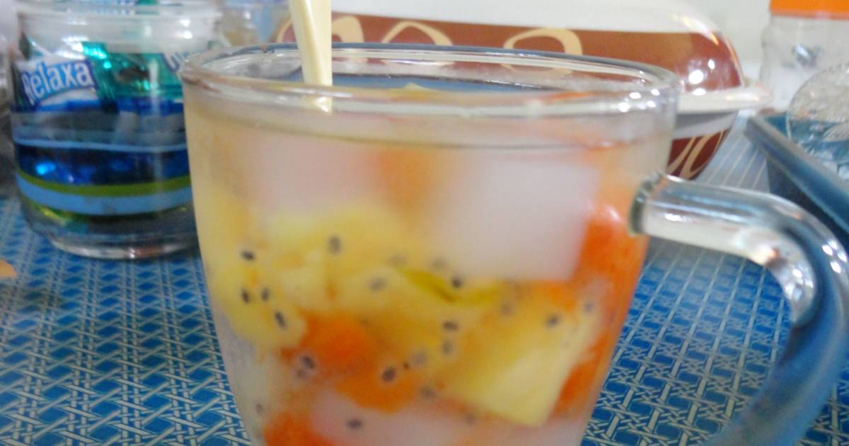 resep es buah koktail