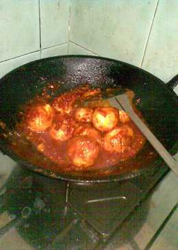 Telur Goreng Balado ala Indofood hot spicy