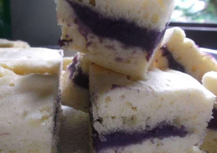 Resep Cake Kukus Ubi Ungu: Resep Bolu Kukus Lapis Ubi Ungu Oleh Muslikhah Ayu
