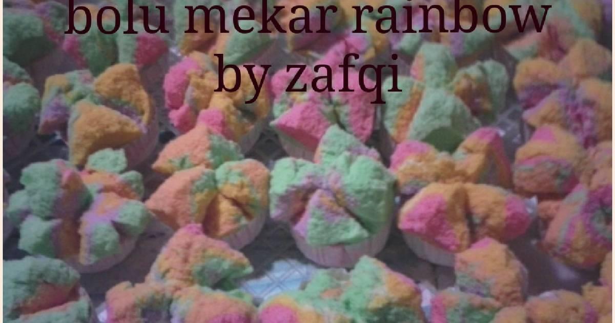 Resep bolu mekar rainbow