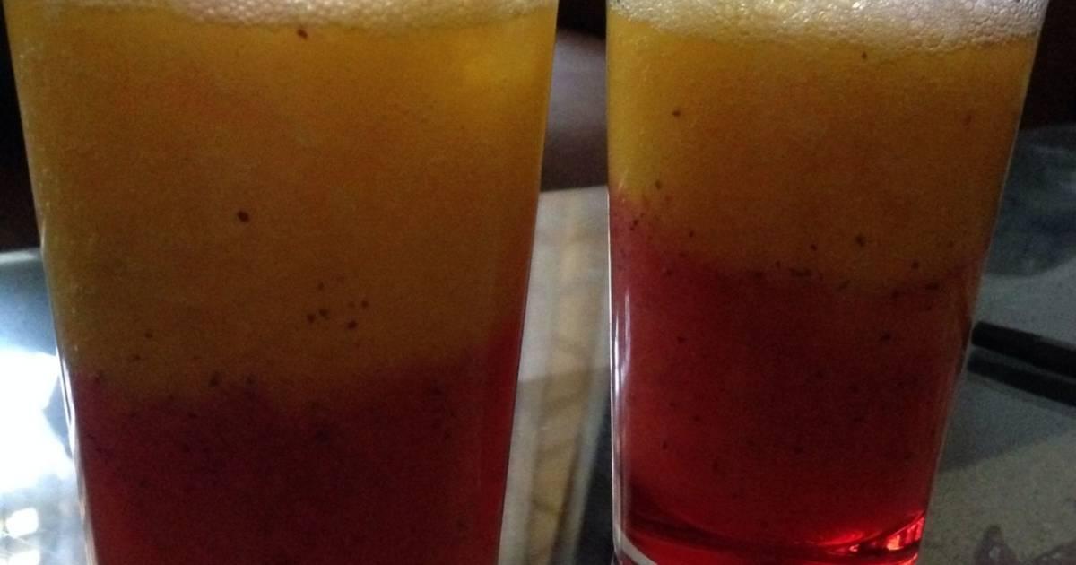 Resep Rainbow juice Strawmango