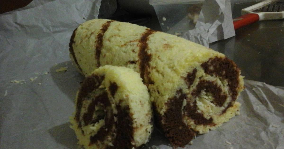 Resep rol cake kukus black n white
