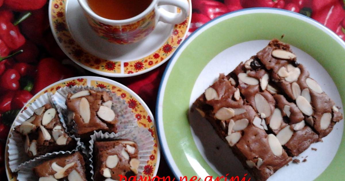 Resep Brownies Bolu Coklat Almond