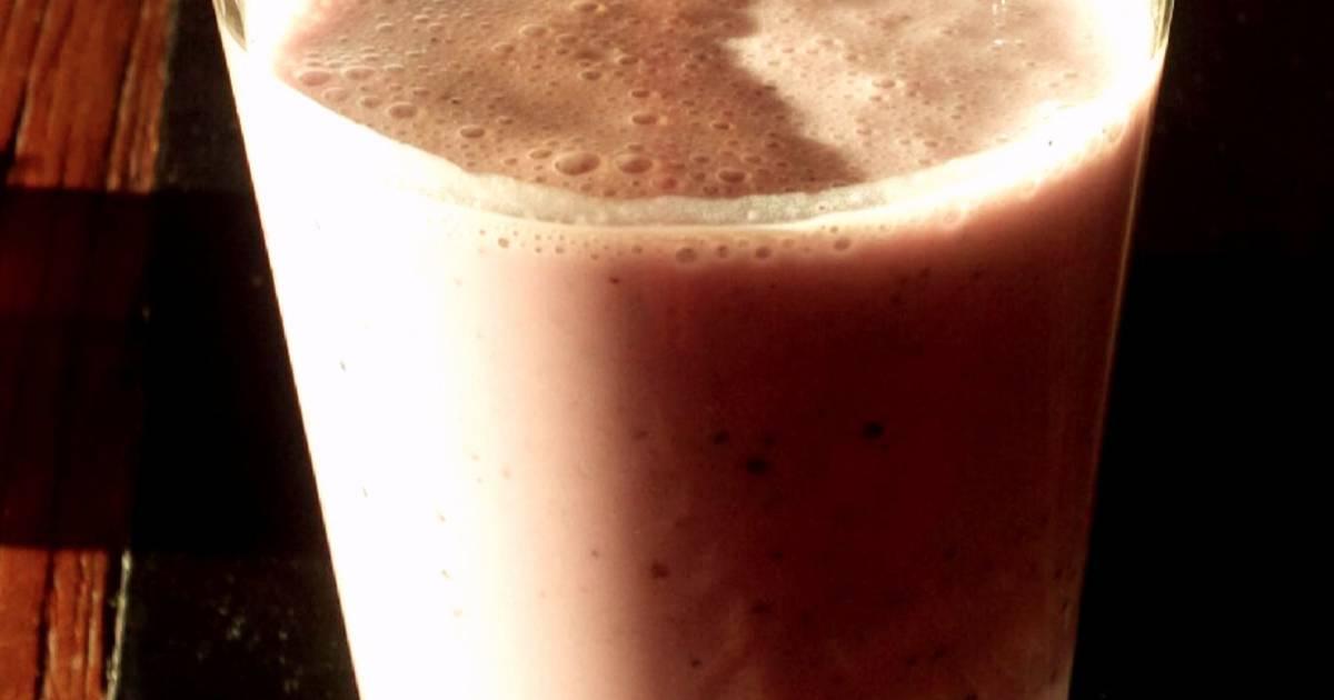 Resep Blueberry muesli smoothie buatan suami