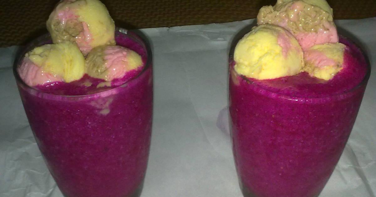 Resep Juice Naga Merah Bola Bola Es Cream