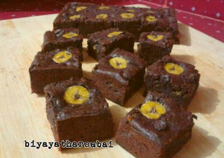 Resep Brownies kukus Pisang Keju