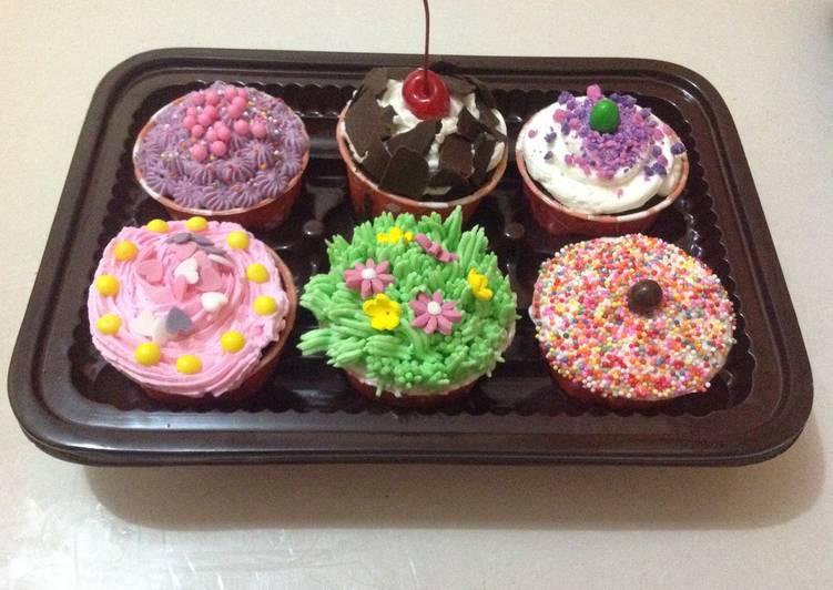 Resep Cup Cake Coklat hias Kiriman dari Eri Mulyati / Rumah Kita cakeshop