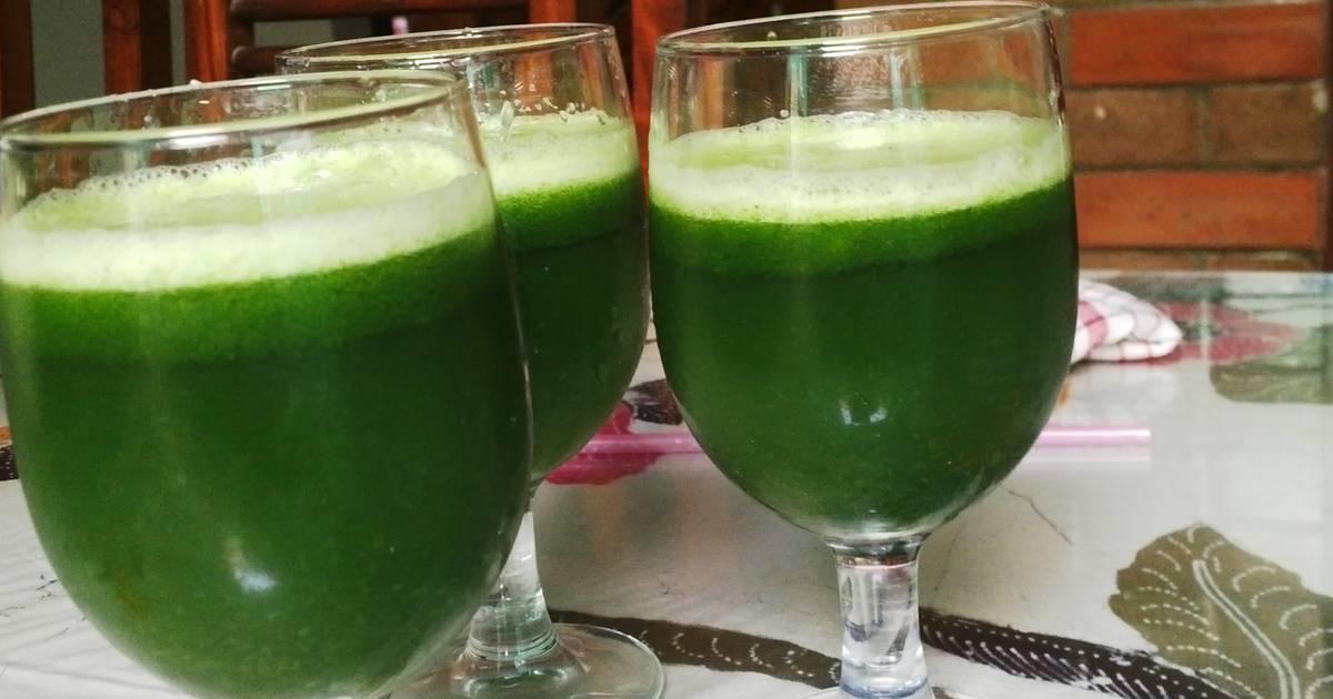 Resep Green Jus seger sehat
