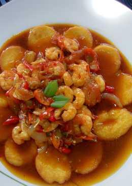 1 resep udang tofu saus padang ala mamavio enak dan