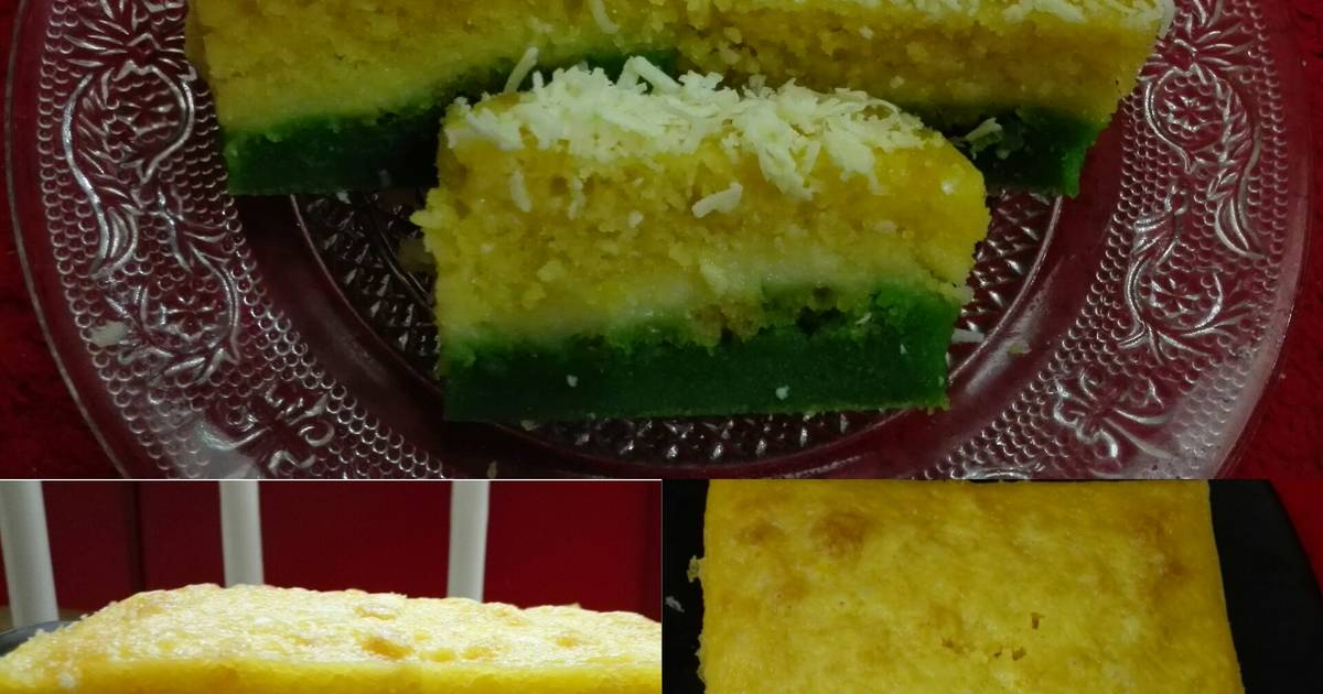 Resep Cake Keju Jepang: Cake Kukus Pandan Keju