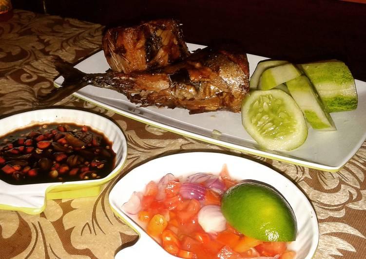 resep masakan Tongkol asap goreng sambal dabu dan kecap