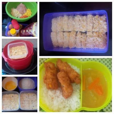 Nugget AKUR ( Ayam Keju Sayur) untuk anak anak