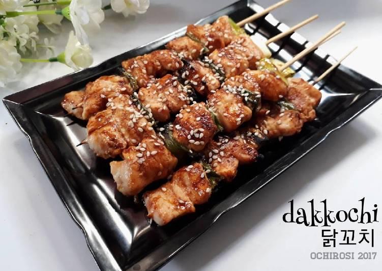 Dakkochi 닭꼬치 (sate ayam ala korea) #pr_asianfood