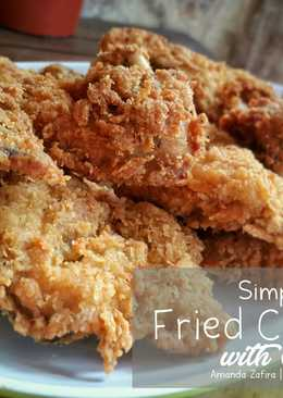 Simple fried chicken with Dill