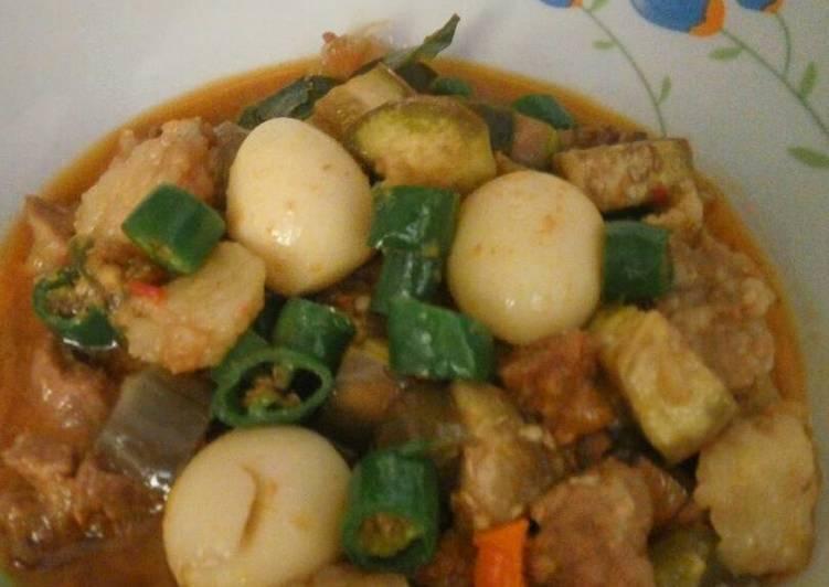 gambar untuk resep makanan Tumis terong ungu sandung lamur lombok hijau Pedissszzz