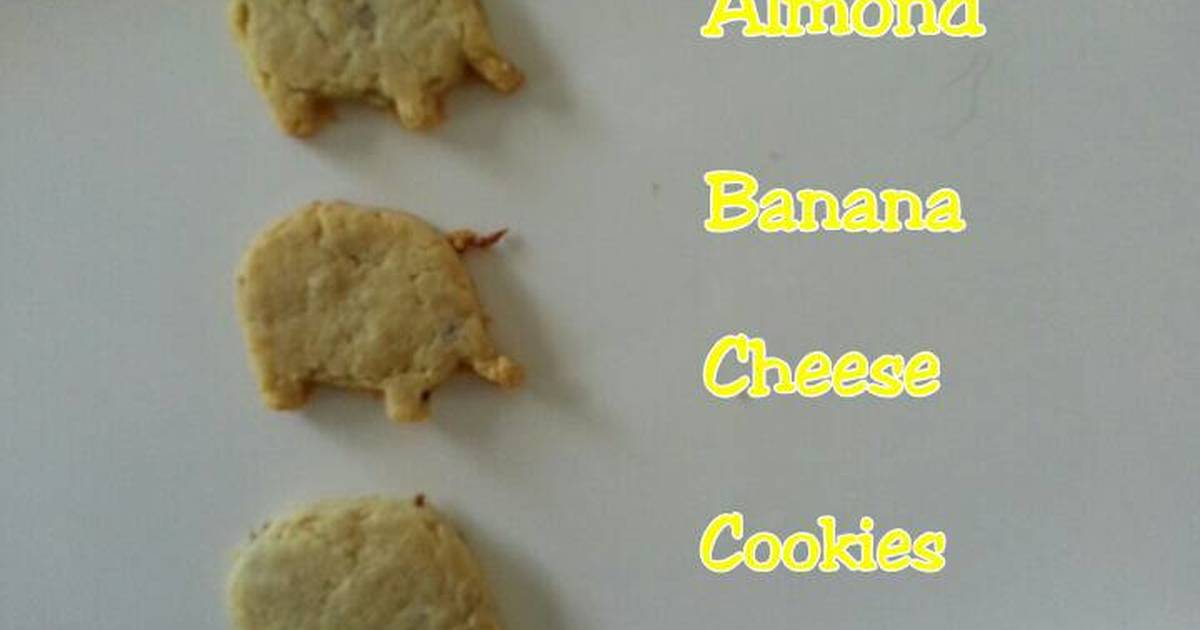 Resep Almond Banana Cheese Cookies (snack MPASI)