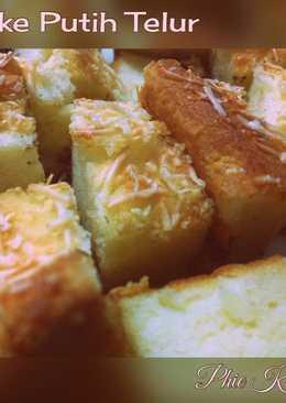 Cake putih telur topping keju