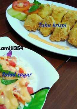 Tahu krispi & salad sayur simple