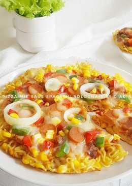 Pizza Mie Saus Spagheti #Bandung_recookOchirosi