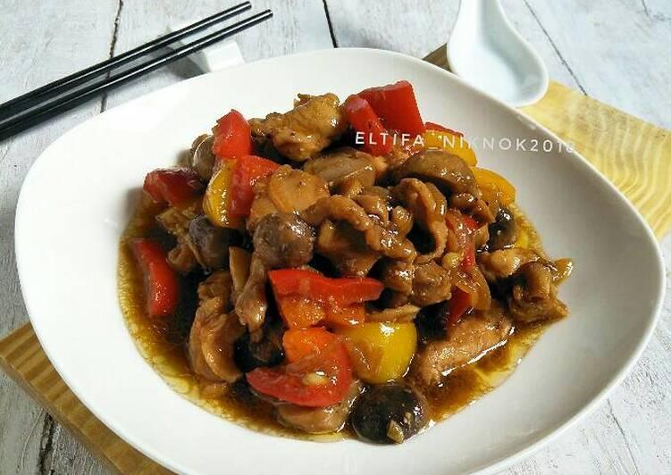 Ayam jamur saus tiram #Bikinramadanberkesan #day7