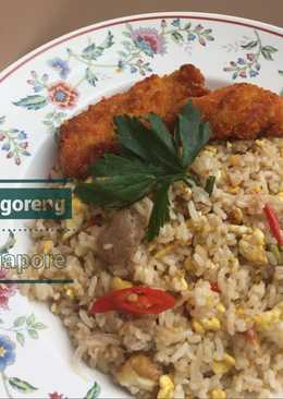 Nasi Goreng singapore with chicken katsu