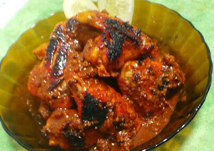 Sayap Ayam bakar bumbu kacang/bumbu sate