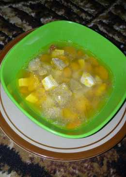 Sup kuah bening baso tahu