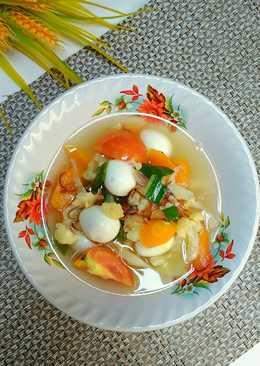 17. Sop telur puyuh