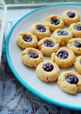 Blueberry Thumbprint Cookies