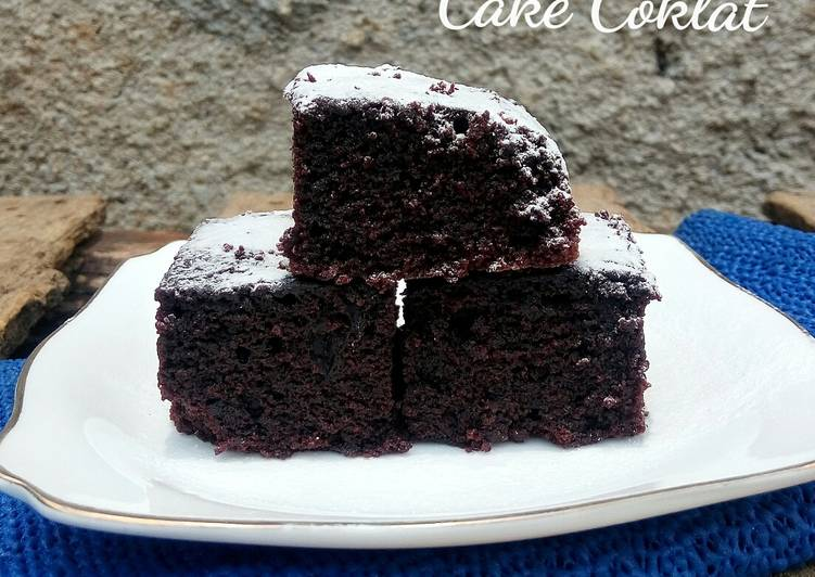 Cake Coklat ala Farah Quinn (no telur, no mikser, no mentega)
