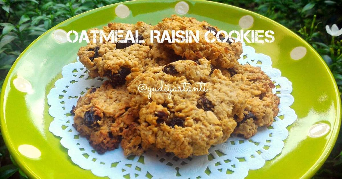 Resep Easy Oatmeal Raisin Cookies