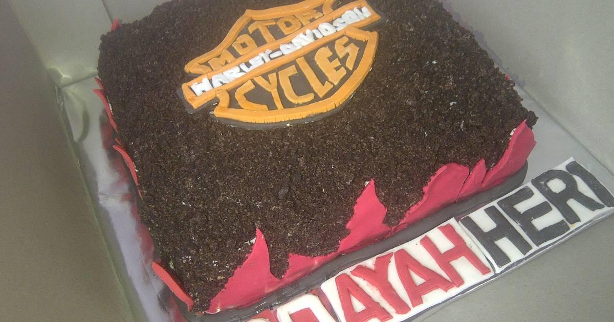 Resep Cake Harley Davidson / bolu kue tart Harley Davidson