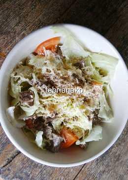 Salad sayur+ daging sehat #diet #keto