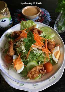 Japanese Sesame Dressing Chicken Salad