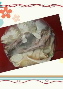 Sup ayam jamur kuping putih