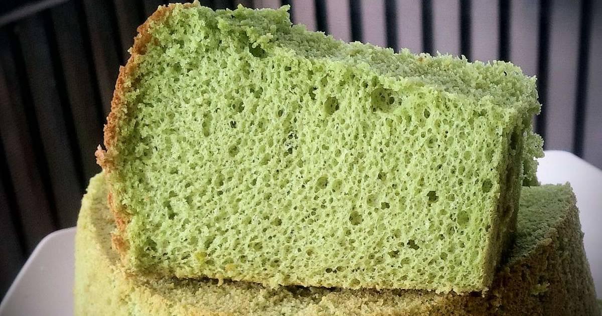 Resep Chiffon Green Tea lembut dan fluffy