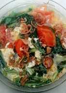Sup Sawi Tomat Segar