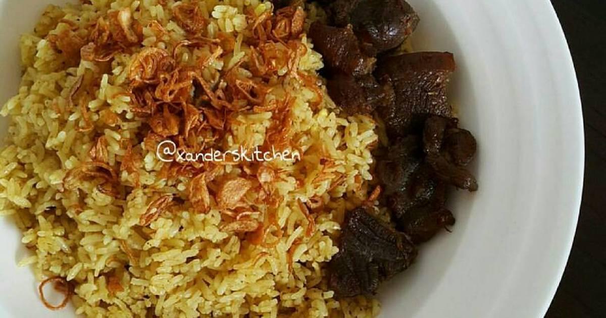 resep nasi kebuli sapi oleh xander s kitchen   cookpad