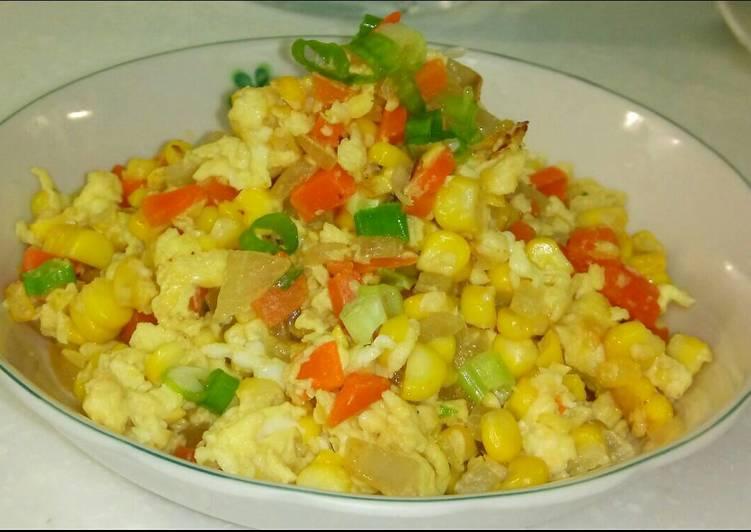 Resep Tumis jagung dan telur By Mia Shary