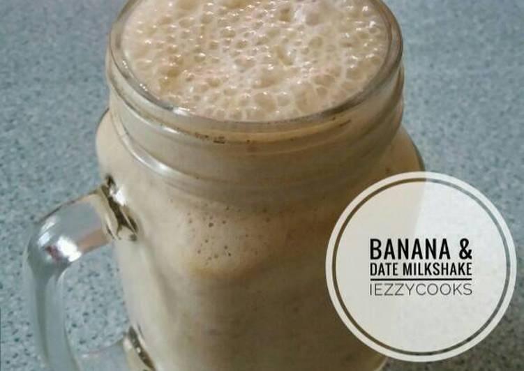 Banana and date milkshake