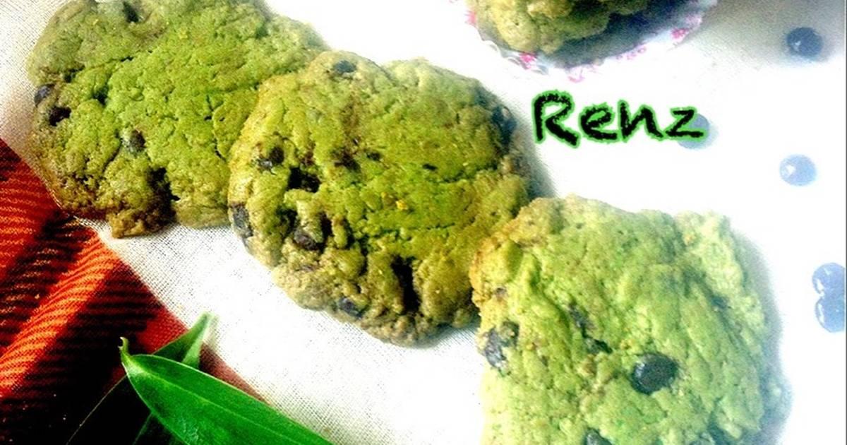 Resep Matcha chocochip cookies